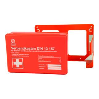 Gramm Medical Betriebsverbandkasten MINI + Wandhalterung schwarz DIN 13 157