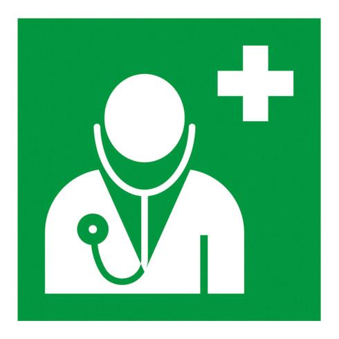 Gramm Medical Symbol Arzt, Kunststoff langnachleuchtend, selbstklebend