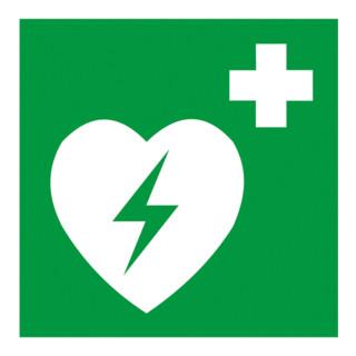 Gramm Medical Symbol Defibrillator, Kunststoff langnachleuchtend, selbstklebend