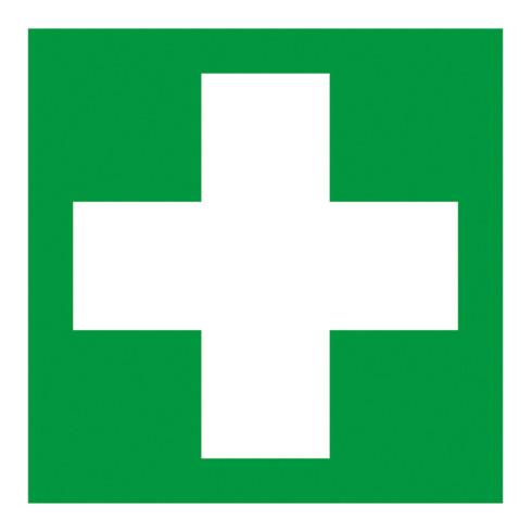 Gramm Medical Symbol Erste Hilfe, Kunststoff langnachleuchtend, selbstklebend