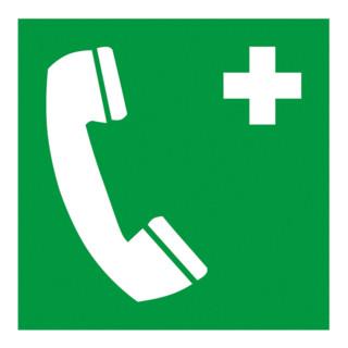 Gramm Medical Symbol Notruftelefon, Folie selbstklebend