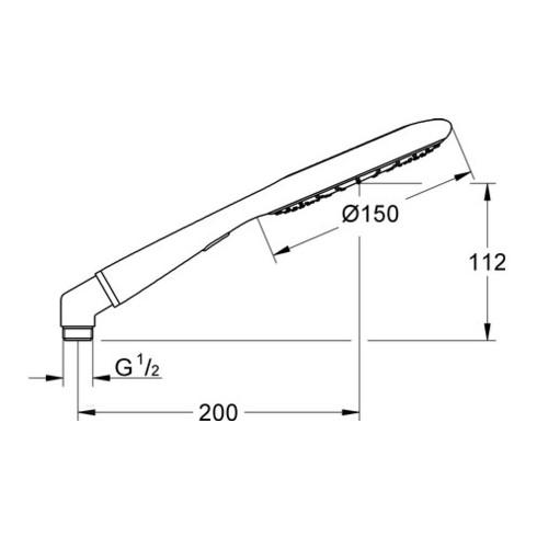 Grohe Handbrause ICON 150 RAINSHOWER chrom/granit