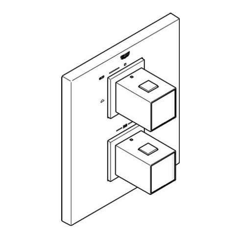 Grohe Thermostat GROHTHERM CUBE für Wanne oder Dusche mit mehr als einer Brause chrom