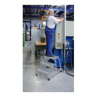 Günzburger Aluminium-Arbeitspodest fahrbar: Stahl-Gitterrost 5 St.