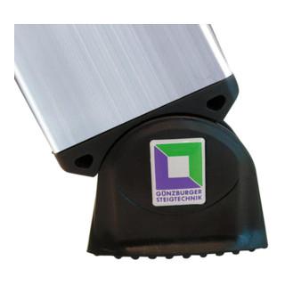 Günzburger Aluminium-Mehrzweckleiter 3-teilig nivello®-Traverse 3 x 11 Sprossen