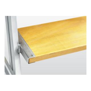 Günzburger Aluminium-Podestleiter beids. begehbar: Holz 6 St.
