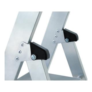Günzburger Aluminium-Stufenstehleiter einseitig begehbar