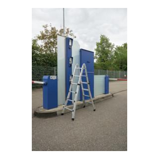 Günzburger Aluminium-Teleskopleiter vierteilig