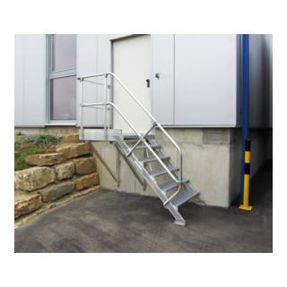 Günzburger Aluminium-Treppe Plattform 45° - DIN EN ISO 14122