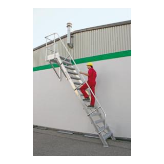 Günzburger Aluminium-Treppe Plattform 60° - DIN EN ISO 14122
