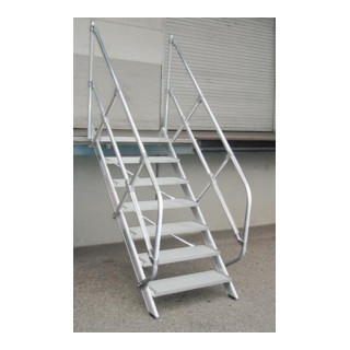Günzburger Aluminium-Treppe mit Stufen 45°