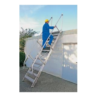 Günzburger Aluminium-Treppe mit Stufen 60°
