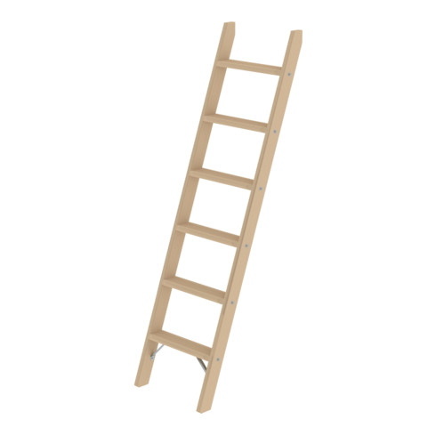 Günzburger Stufen-Anlegeleiter Holz ohne Traverse 8 Stufen