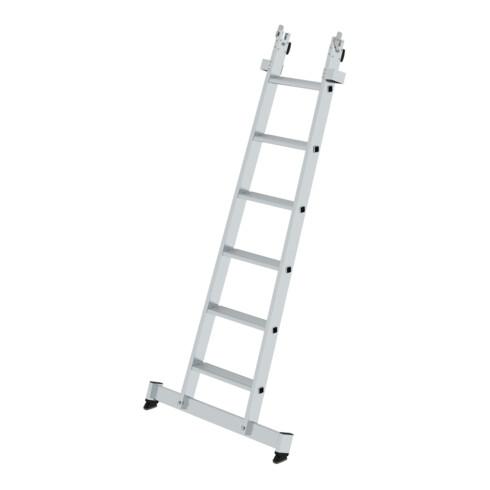 Günzburger Stufen-Glasreinigerleiter Unterteil mit nivello®-Traverse 6 Stufen