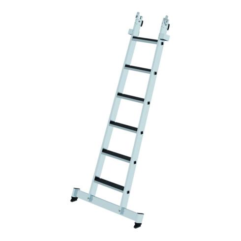 Günzburger Stufen-Glasreinigerleiter Unterteil nivello-Traverse& clip-step R 13 6 Stufen