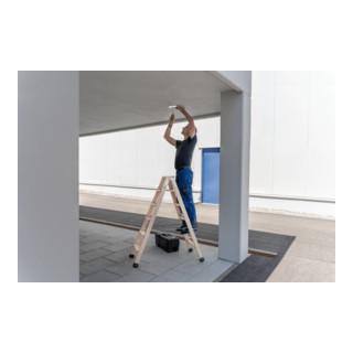 Günzburger Stufen-Stehleiter beidseitig begehbar Holz 033812