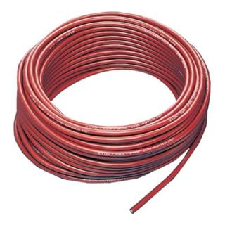 Gummileitung H07RN-F 3x1,5mm2 L.50m rot f.innen u.außen