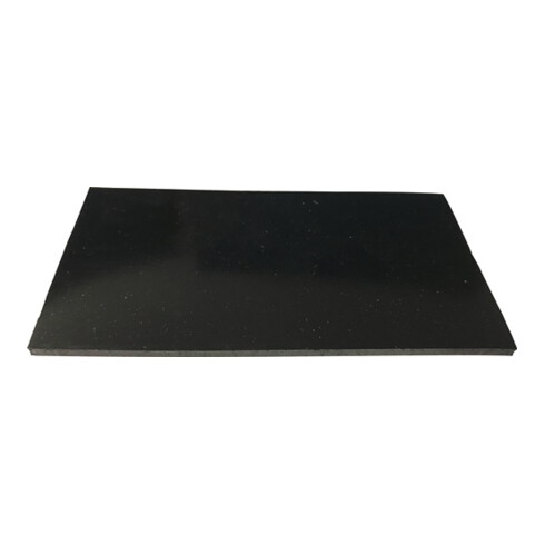 Gummiplatte B.1,4m L.10m D.3mm schwarz EPDM/SBR o.Gewebeeinlage