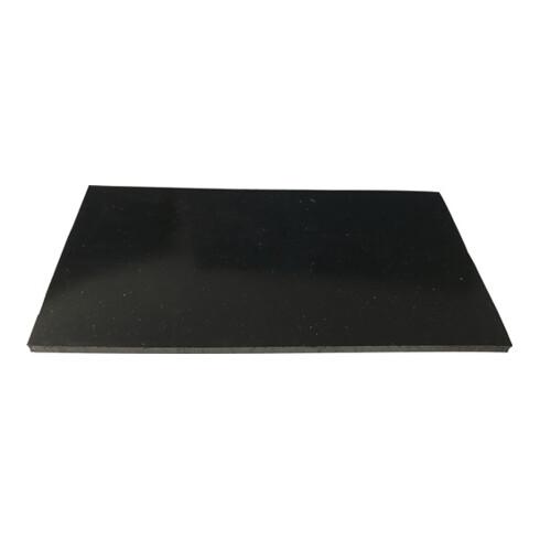 Gummiplatte B.1,4m L.20m D.2mm schwarz EPDM/SBR o.Gewebeeinlage