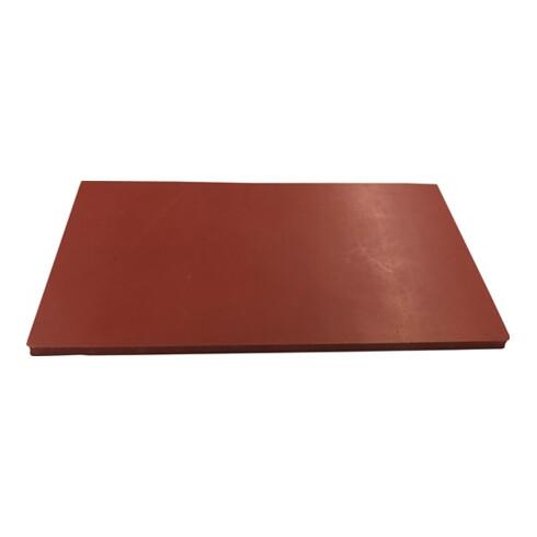 Gummiplatte Silik.B.1,2m L.10m D.2mm 60 +/- 5Grad Shore Silik.rot