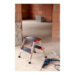 Hailo Aluminium-Klapptritt 3 Stufen 225 kg