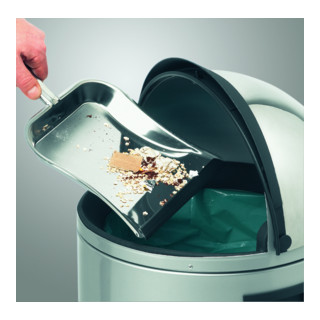 Hailo Großraum-Abfallbox KickVisier 50 silber