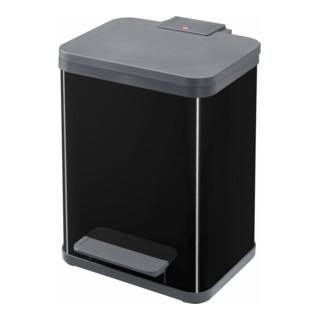 Hailo Tret-Abfallsammler ProfiLine Solid Öko tiefschwarz