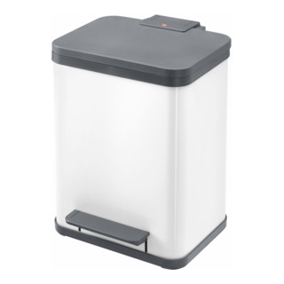 Hailo Tret-Abfallsammler ProfiLine Solid Öko weiß