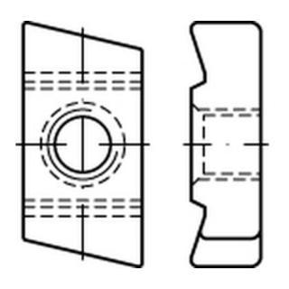 Hakenkopf Gewindeplatte Typ 40/22, M 6 , gal Zn gal Zn S