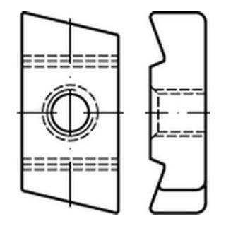 Hakenkopf Gewindeplatte Typ 50/30, M 8 , gal Zn gal Zn S