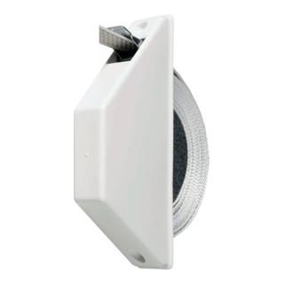 Halbeinlasswickler Halbeinlasswickler weiß weiß Gurtbreite 14mm Gurtlänge 5 m