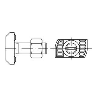 Halfenschrauben Typ HZS 41/22 8.8 M 12 x 35 feuerverzinkt tZn S