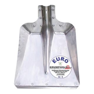 Hallenser Randschaufel FAVORIT Gr. 9 380x380mm Aluminiumblech