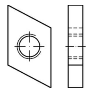 Hammerkopf Gewindeplatte Typ 38/17, M 8 , gal Zn gal Zn S