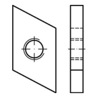 Hammerkopf Gewindeplatte Typ 50/40, M 8 , gal Zn gal Zn S