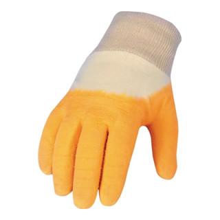 Handschuh Gr. 10 Latex-beschichtet 2-fach getaucht raue Oberfläche