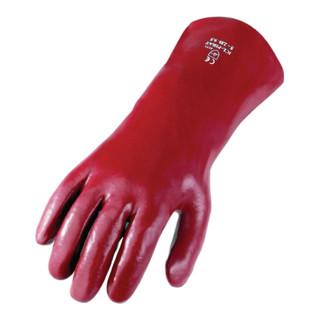 Handschuh PVC Gr. 10 rotbraun 350mm lang 5-Finger
