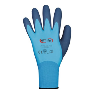 Handschuhe Aqua Guard Gr.9 blau PA m.Latex/Latex EN 388 Kat.II