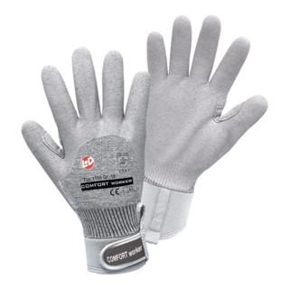 Handschuhe Comfort worker Gr.10 grau Baumwoll/E...
