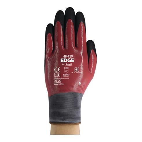 Handschuhe EDGE®48-919 Gr.7 weinrot/schwarz EN 388 PSA II 12 PA