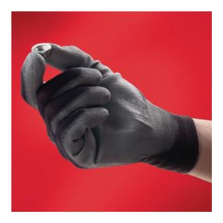 Ansell Nylonhandschuhe HyFlex 11-601 mit PU schwarz/grau