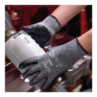 Ansell Nylonhandschuhe HyFlex 11-801 mit Nitrilschaum grau/schwarz