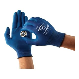 Ansell Handschuhe HyFlex 11-818 Nylon mit Nitrilschaum blau