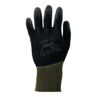 Ansell Handschuhe SensiLite 48-101 Nylon mit Polyurethan schwarz