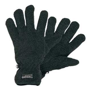 Industrial Quality Supplies Fleece-Handschuhe Fleece wasserdicht mit Thinsulate schwarz/grau