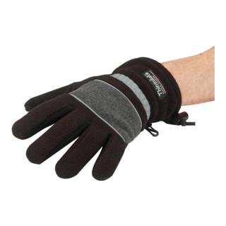 Handschuhe Fleece Gr.M schwarz/grau 100%PES wasserdicht mit Thinsulate