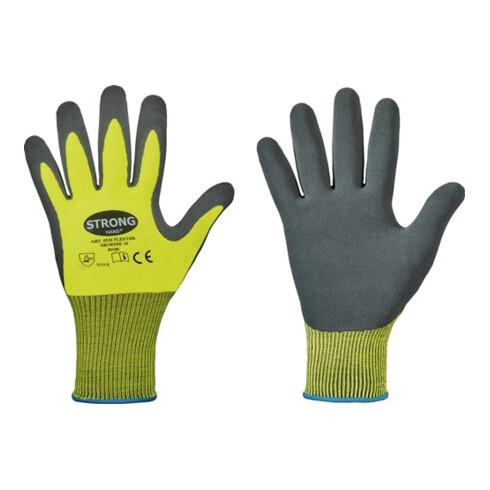 Handschuhe Flexter Gr.8 neogelb/grau EN 388 PSA II 12 PA
