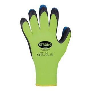 Handschuhe Forster Gr.9 neon-gelb/blau PES m.Latex EN 388,EN 511 Kat.II