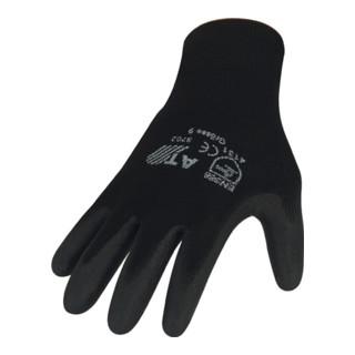 Nordwest Handschuhe Nylon Feinstrick mit Strickbund schwarz