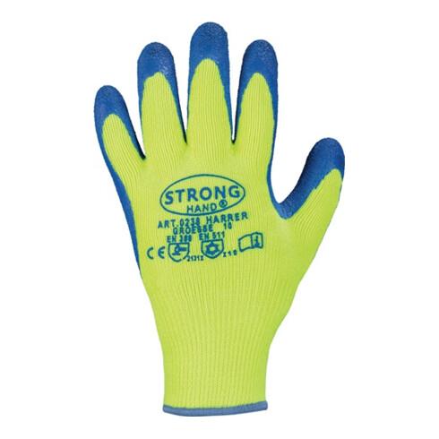 Handschuhe Harrer Gr.10 gelb/blau Acryl m.Latex II